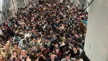 vluchtelingen Taliban Afghanistan in beeld foto's video's