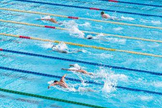 Zwembaden behoren ook tot de sportaanbieders.