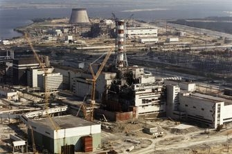 De oude overkapping van Tsjernobyl. Foto:EPA
