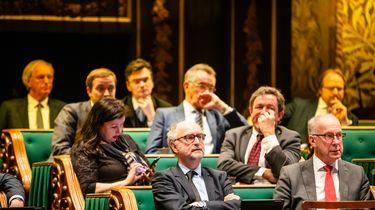 De fractie van Forum voor Democratie tijdens het debat in de Eerste Kamer over de spoedwet met stikstofmaatregelen.