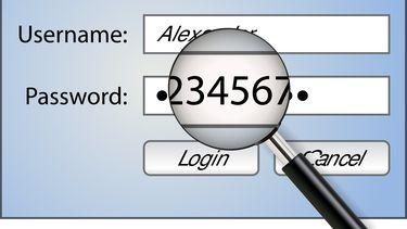 Een foto van het invullen van een wachtwoord
