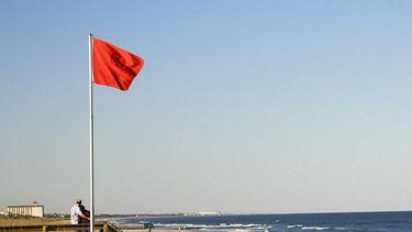 Dit betekenen de vlaggen van de reddingsbrigade die op strand wapperen
