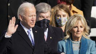 Joe Biden wordt beëdigd als president.
