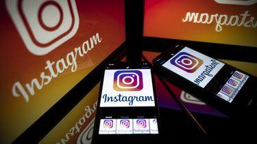 Een foto van de app van Instagram op een smartphone