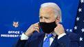 Joe Biden met een masker op.