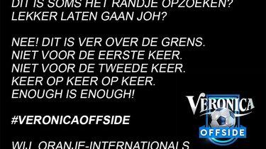 Foto van de tekst van oranje-internationals over Voetbal Inside