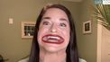Samantha Ramsdell, haar mond is een van de grootste ter wereld.