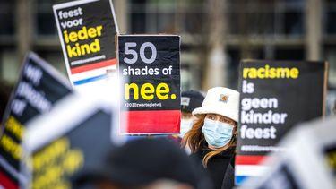 Demonstratie van Kick out Zwarte Piet in Breda.