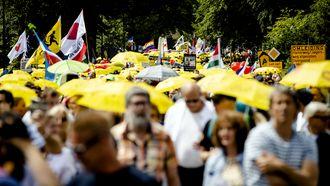 Mars tegen coronamaatregelen trekt duizenden demonstranten