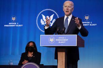 Een foto van Joe Biden en Kamala Harris