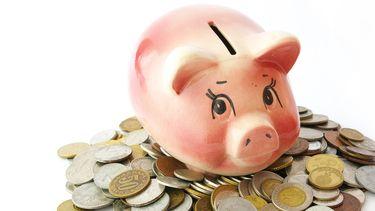 Een illustratie van sparen, een spaarvarken