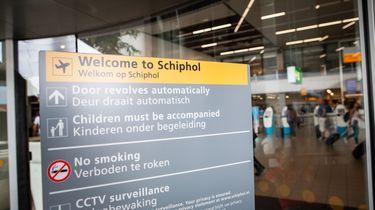 Website en app Schiphol uit de lucht.