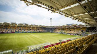 Op deze foto zie je het stadion van Roda JC