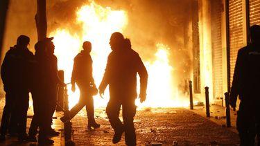15 maart - Rellen in het centrum van Madrid