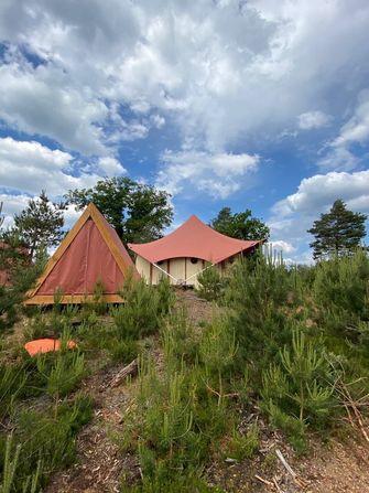 pop-up camping reizen