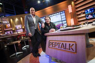 Een foto van Jack van Gelder met Frank Evenblij in Peptalk