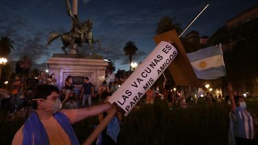 Demonstranten tegen vaccinatievoorrang