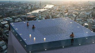 Londen krijgt infinity pool met 360 graden-uitzicht