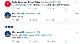 Een koele tweet van Elon Musk