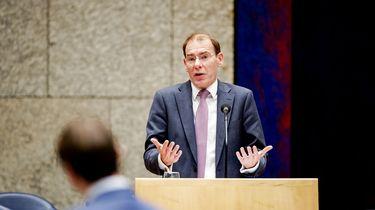 Staatssecretaris Menno Snel van Financien tijdens het debat in de Tweede Kamer.