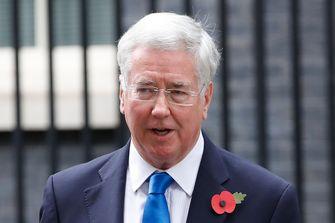 De Britse minister van Defensie Michael Fallon stapte op na #MeToo. Foto: AFP | Tolga Akmen