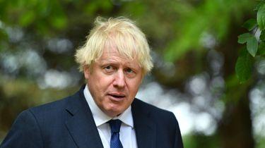 Op deze foto is de Britse premier Boris Johnson te zien.