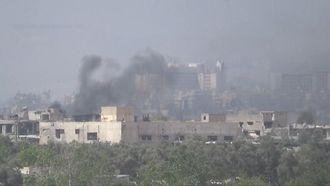 09 april - Rebellenstrijders verlaten Douma