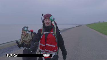 Afzien op de Afsluitdijk voor 3FM