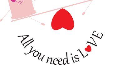 illustratie met condooms en een hartje
