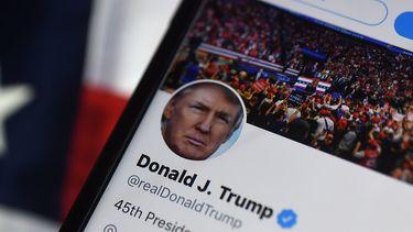 Een foto van het Twitteraccount van Trump
