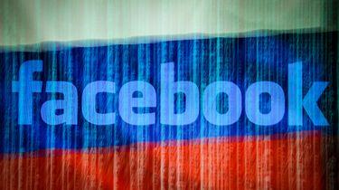 Vlag van Rusland met Facebooklogo