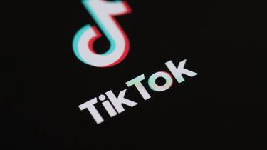 Een foto van het logo van TikTok