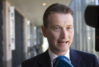 Halbe Zijlstra (VVD) staat de pers te woord na afloop van een debat. Foto: ANP | Phil Nijhuis