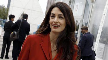 Amal Clooney komt samen met Kofi Annan naar Den Haag. / ANP