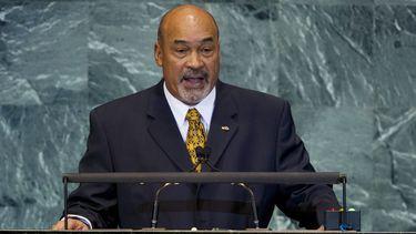 De Surinaamse president Dési Bouterse bij de Verenigde Naties (VN) in New York. Foto: AFP