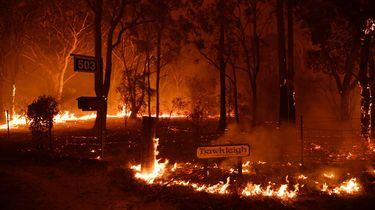 Massa-evacuatie uit badplaatsen Australië om bosbranden
