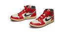 Paar Nike Air Jordan 1 van Michael Jordan