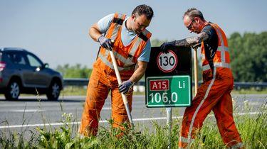 Twijfel je over de maximumsnelheid op de snelweg? Mogelijk bieden de hectometerbordjes uitkomst. / Robin van Lonkhuijsen | ANP