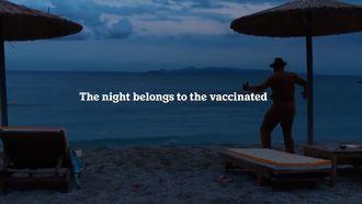 Screenshot Heineken reclame the night belongs to the vaccinated
