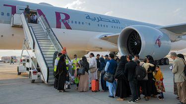 Afghanen evacueren