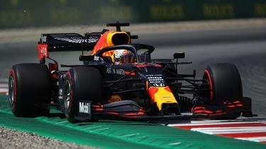 Foto van Verstappen op het circuit de Barcelona Catalunya