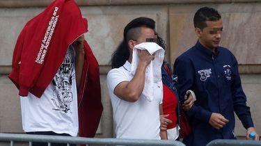 3 van de mannen die werden vrijgesproken van verkrachting in Spanje. / ANP
