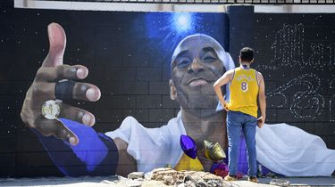 Muurschildering Kobe Bryant in Los Angeles