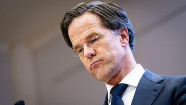 Een foto van premier Rutte