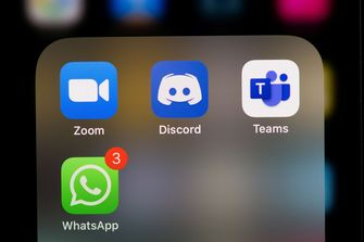 Een foto van Whatsapp op een mobieltje