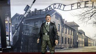 Het grote wassen Hitler-beeld in een museum in Yogyakarta. Foto: EPA