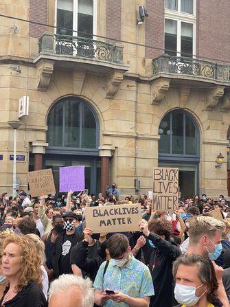 BlackLivesMatter protest op de Dam