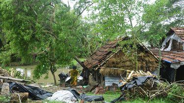 Supercycloon Amphan zorgt voor enorm veel schade.