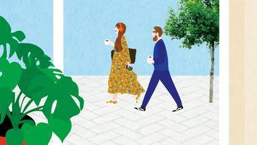 Thuiswerken en wandelen Wandel naar je Werk-dag