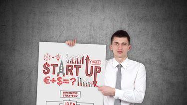 Een foto van een jonge startupondernemer